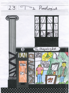 Reimagined Victorian shops fronts by 10‑11 year olds