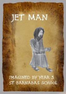 The imagined story of Jetman, a medieval monk by 7‑8 year olds